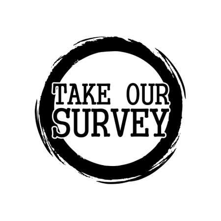 Take Our Survey sign Vektoros illusztráció