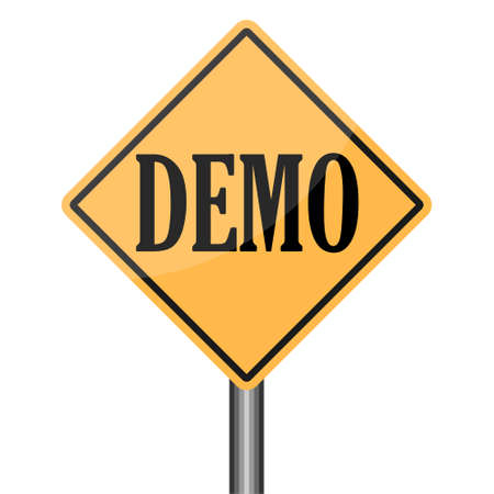 Demo Product Demonstration Road Sign Service Example