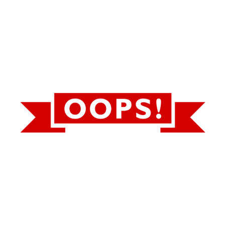 Oops! icon, sign, logo