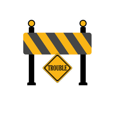 Wrong Word Barrier Road Construction Sign