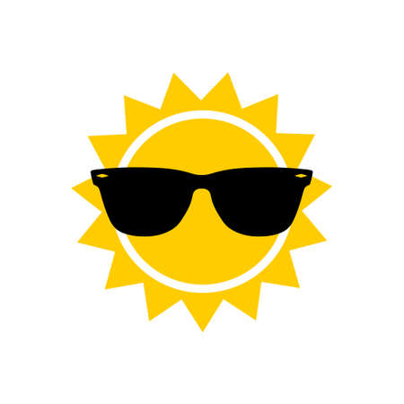 Sunglasses and sun icon, sign or logo Logo