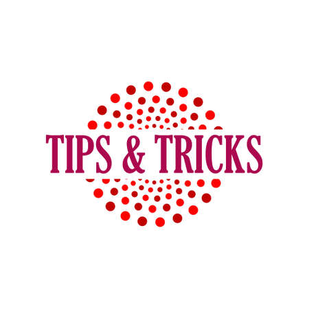 Tips and tricks sign, icon or logo