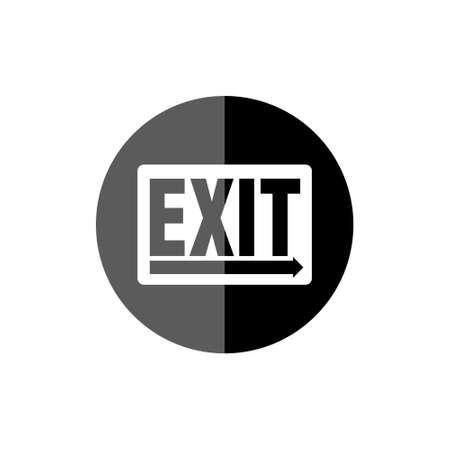 Exit sign or Exit black button