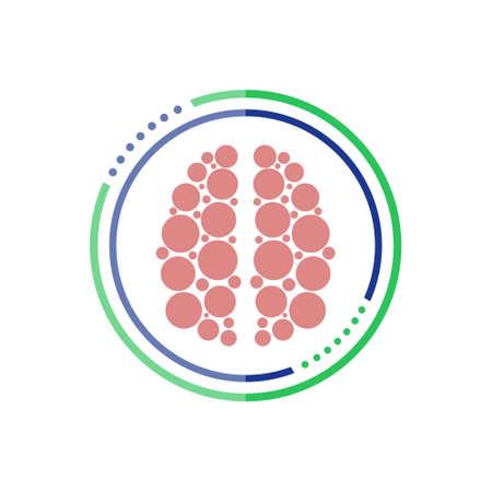App icon brain, Brain button