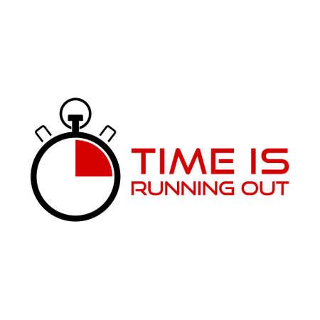 Time is Running Out Clock Deadline Words Vector Illustratie