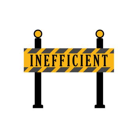 Inefficient Road Construction Sign Vektoros illusztráció