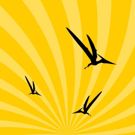 Pteranodon Dinosaur in the sky