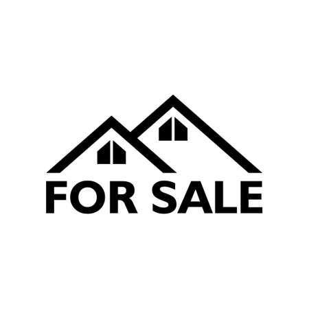 House for sale icon or sign