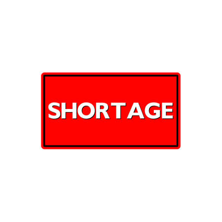 Shortage sign icon button