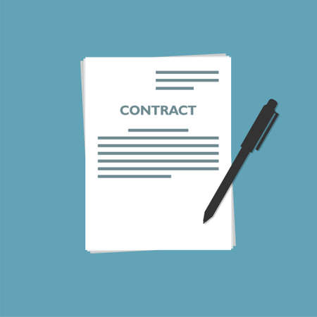 Signed a contract, The form of document