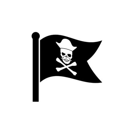 Waving Pirate Flag icon sign