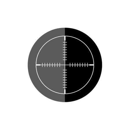 Crosshair black simple icon Vettoriali