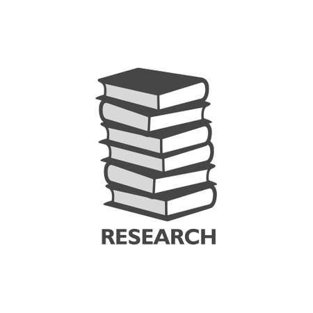 Research word, Book concept