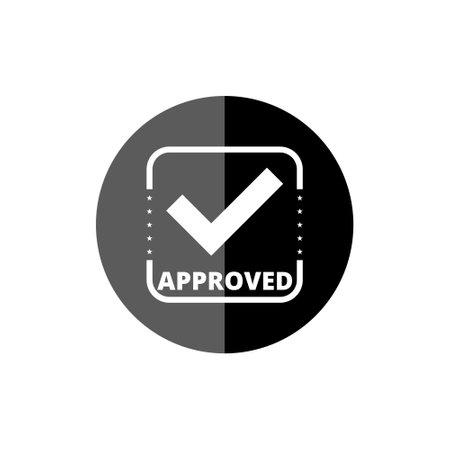 Black Approved Stamp Check Mark