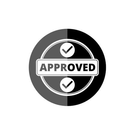 Black Approved Stamp Check Mark