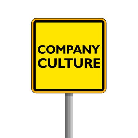 Company Culture modern yellow road sign 일러스트
