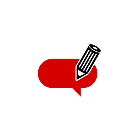 Feedback icon, writing article or blog