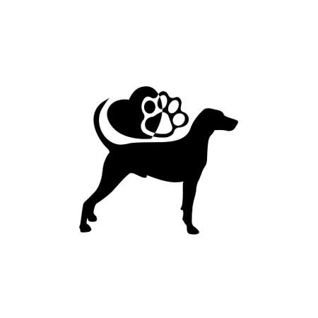 Love Dog logo, Dog silhouette for icons
