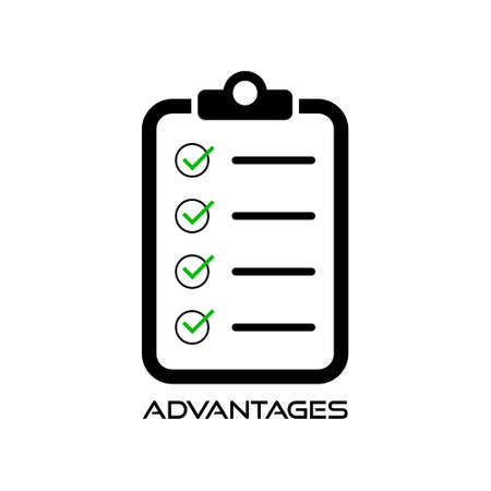 Advantages check list illustration design