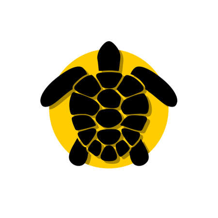 Sea turtle icon, sign