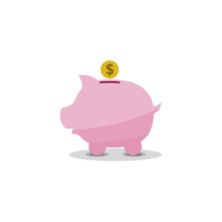 Piggy bank icon, sign,   symbol, button Stock Illustratie