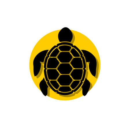 Sea turtle icon,  sign Stock Illustratie