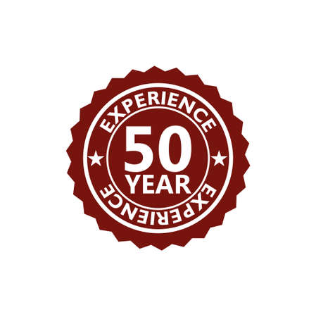 Fifty Years Experience, 50 Years Experience icon, sign, button