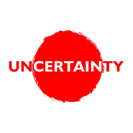 Red Uncertainty button, sign, icon 矢量图像