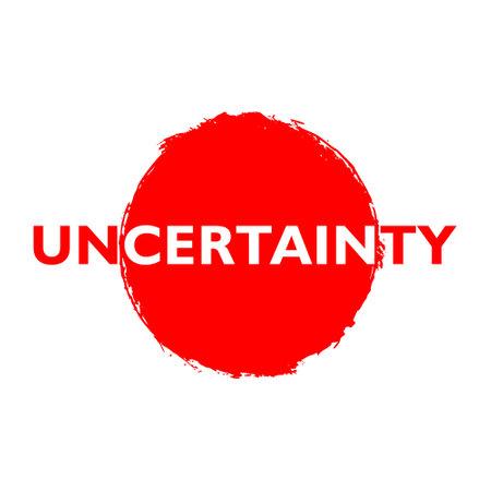 Red Uncertainty button, sign, icon Ilustração