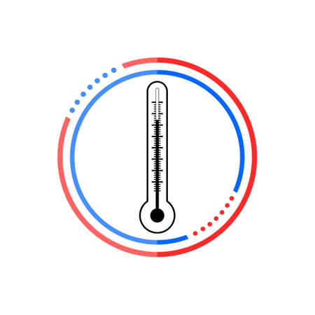 Thermometer icon in flat style, Thermometer sign