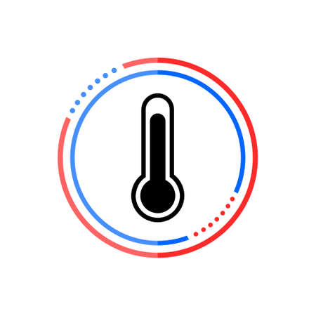 Thermometer icon in flat style, Thermometer