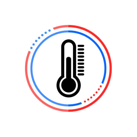 Thermometer icon in flat style, Thermometer sign Stock Illustratie