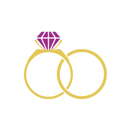 Wedding Rings icon, sign Stock Illustratie