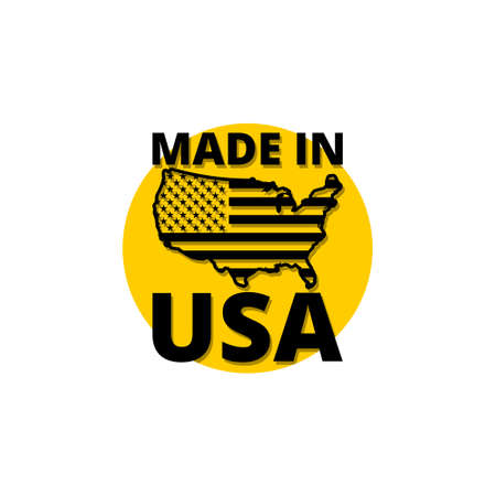 Made in USA icon, sign,  button