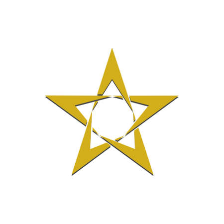 Gold Star Icon Template illustration
