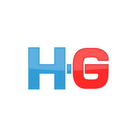 HG Initial letter logo simple shape illustration Çizim