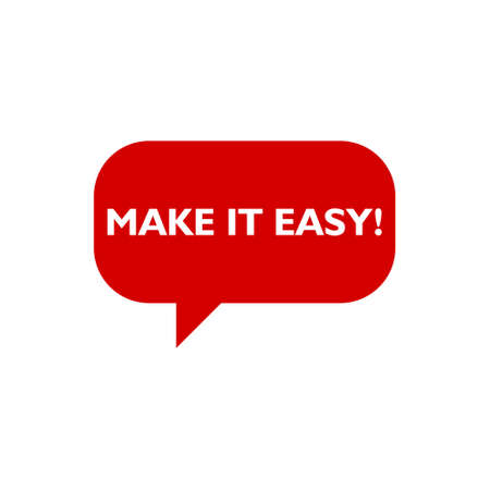 Make It Easy icon. Business concept illustration