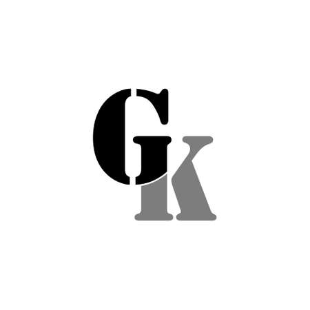 Letter GK simple linked logo illustration