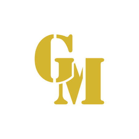 GM G M Letter Logo Design illustration Çizim