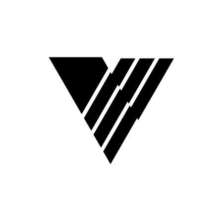 V Letter Logo Template illustration