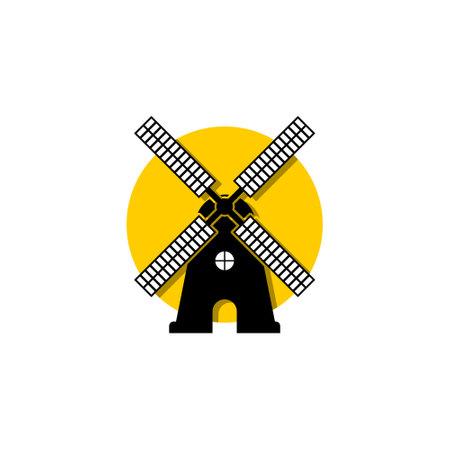 Simple flat windmill icon, sign illustration Vector Illustration