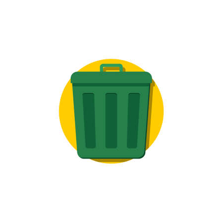 Trash can, Sorting garbage icon sign illustration