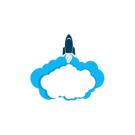 Rocket Launch, Rocket and Cloud icon