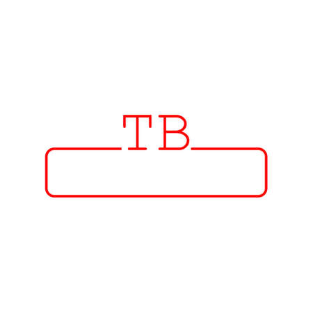 Red TB letter  design, Best line icon design Stock Illustratie