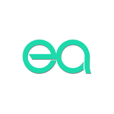 Initial Letter EA Template Simple Design Stock Illustratie