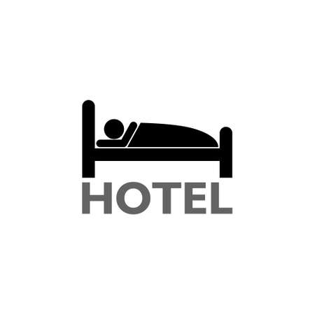 Bed symbol hotel business