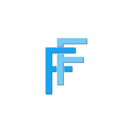 Creative FF letter  design