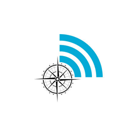 Wifi icon, Simple element illustration, Compass Stock Illustratie