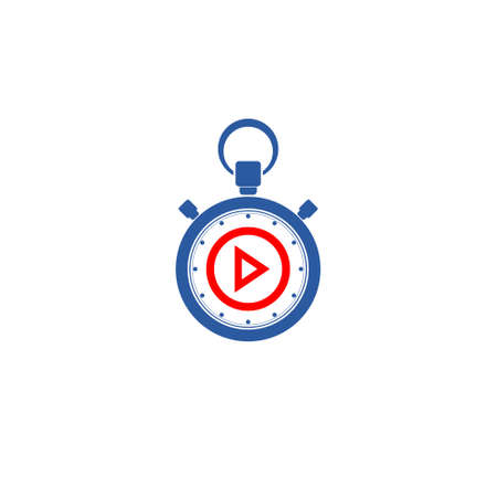 Play button logo media player vector