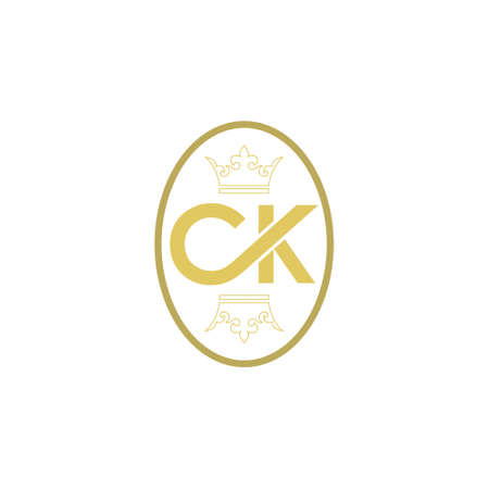 CK C K Design, Creative Icon Text Letter Stock Illustratie
